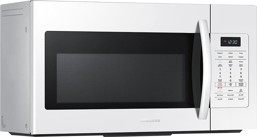 Samsung me17h703shw ac over the range microwave with sensor cook