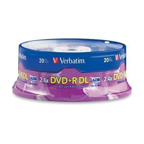 Verbatim - Carrousel de 20 disques DVD+R AZO 8X double couche de 8,5 on